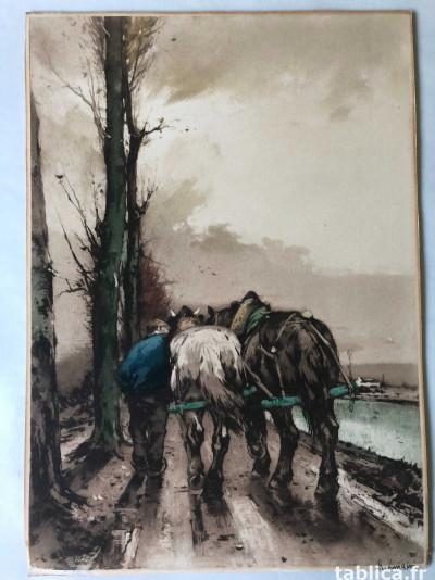Obraz akwatinta, akwaforta Ferdinand-Jean Luigini