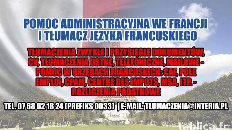 Pomoc Administracyjna Tłumasz Języka Francuskiego 0
